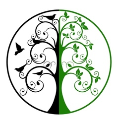 Tree of life and death vector