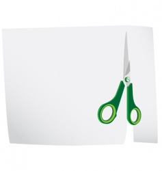 scissors cut a background f vector image
