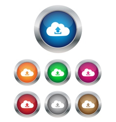 Upload to cloud buttons vector image