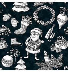 Christmas sketchy pattern vector