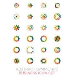 Abstract symmetric business icons vector