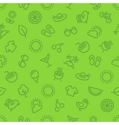 Summer and vacation green seamless pattern vector