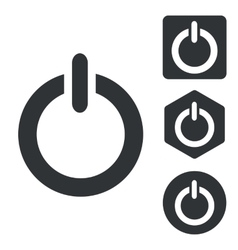 Power icon set monochrome vector