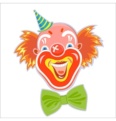 Happy smiling red-haired clown vector