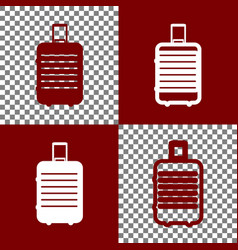 Baggage sign bordo and white vector