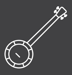 Banjo line icon music and instrument vector