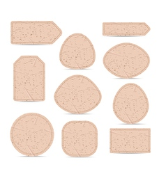 Cardboard paper labels vector