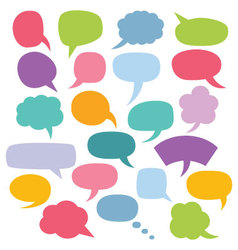 colorful speech bubbles set vector image vector image