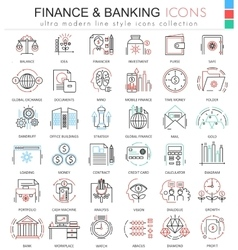 Finance and banking ultra modern color vector