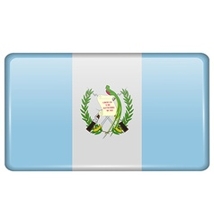 Flags Guatemala in the form of a magnet on vector image vector image