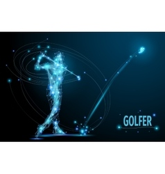 golf player poly vector image