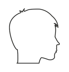 Head human profile isolated vector