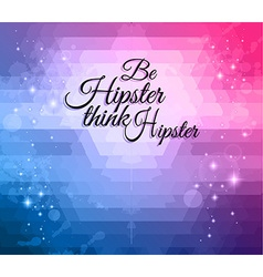Hipster background to use for Flyers vector image vector image