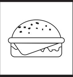 icon depicting a hamburger a simple drawing vector image vector image
