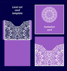 Laser cut card template vector