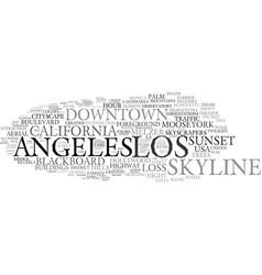 Los word cloud concept vector