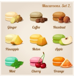 Macaroons Set 2 vector image