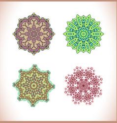 Mandala hand drawn background vector