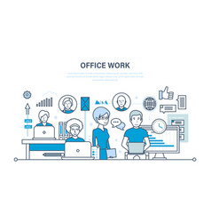 Office workplace performance evaluation analysis vector