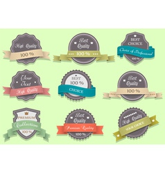 Premium Quality labels in retro style vector image vector image