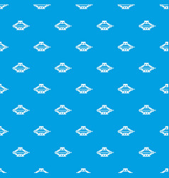 Red scissor car jack pattern seamless blue vector