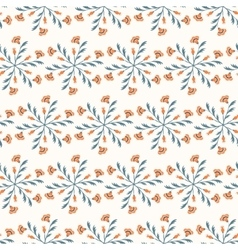 Seamless floral pattern in vintage colors vector