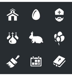 Set of easter and religion vector