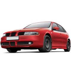 Spanish 5 door hatchback vector image vector image