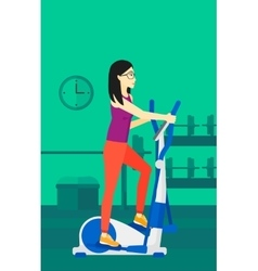 Woman making exercises vector