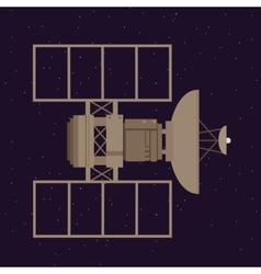 Satellite in space orbit navigation communication vector