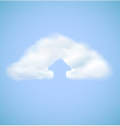 Cloud computing icon with arrow upload vector image