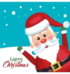 Santa claus cheerful merry christmas vector