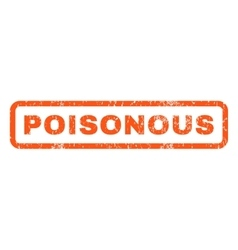 Poisonous rubber stamp vector