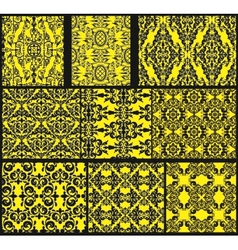 Set of antique seamless patterns vector