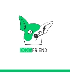 Logo funny cartoon dog friend suitable vector