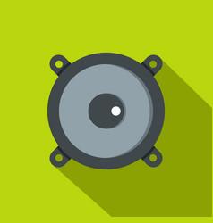 frontal audio speaker icon flat style vector image