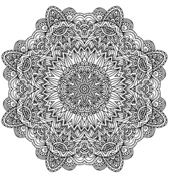 Lacy ornate black napkin vector