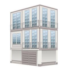 3d design for three storey building vector