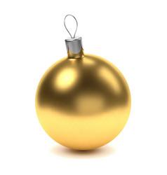 Golden christmas ball vector