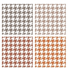 Houndstooth seamless brown pattern set vector