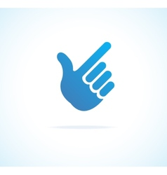 Paper hand cursor pointing icon vector