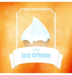 Abstract background with ice cream vector