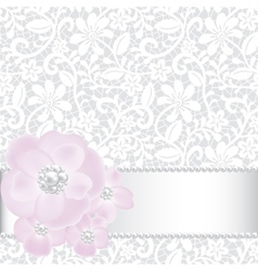 pearls and roses vector image