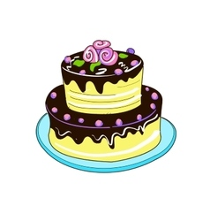 Colored doodle pie vector