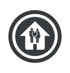 Round black family house sign vector