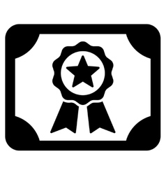 Certificate icon from business bicolor set vector