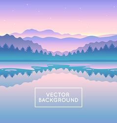 Abstract landscape vector
