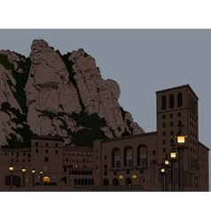 Montserrat Monastery vector image