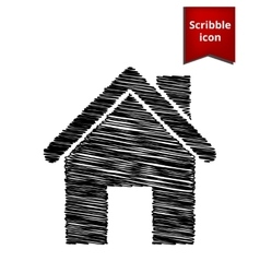 Home icon scribble icon for you design vector