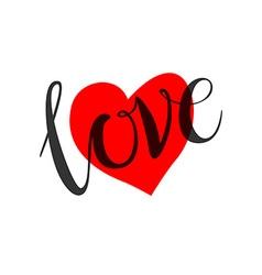 Love heart shape design for love symbols vector
